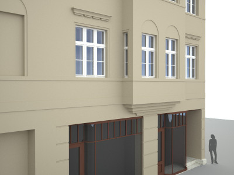 Fassadenansicht mit Fenster »Am Viadukt 2«