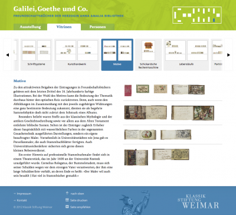 Website zur Ausstellung »Goethe, Galilei undCo.«