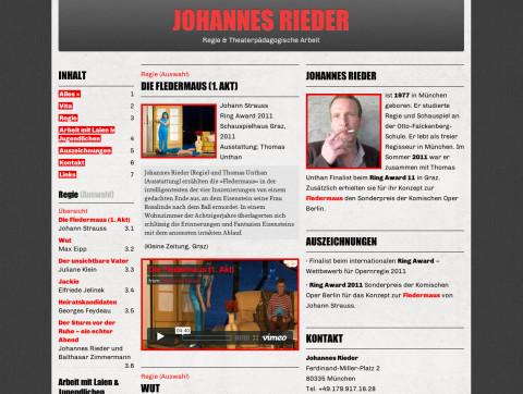 Johannes Rieder, Director