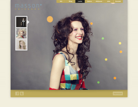 Website Designrefresh Ende 2012 masson®Friseure